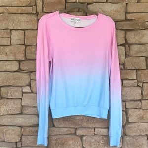 WILDFOX OMBRÉ SWEATER XS💗💙